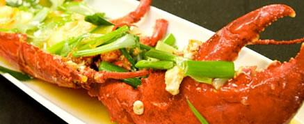 Fusion - Whole Lobster with Ginger and Spring Onions